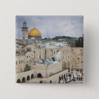 Visitors, Western Wall Plaza & Dome of the Rock 15 Cm Square Badge