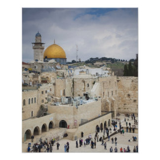 Visitors Western Wall Plaza Dome of the Rock Print
