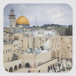 Visitors, Western Wall Plaza & Dome of the Rock Square Stickers