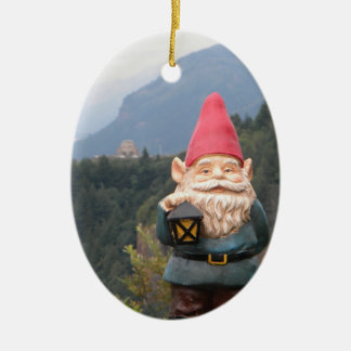Vista Gnome Ceramic Oval Decoration