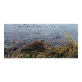 Vista Santa Maria Del Oro Jalisco Poster