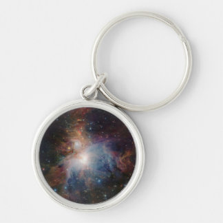 VISTA's infrared view of the Orion Nebula Silver-Colored Round Key Ring