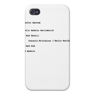 Visual Basic Hello World Greeting iPhone 4 Covers