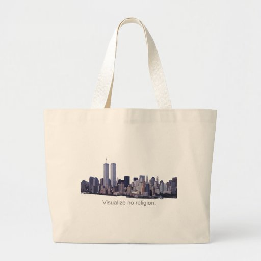 Visualise no Religion Jumbo Tote Bag