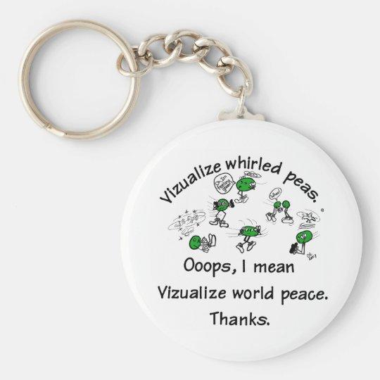 Visualise Whirled Peas - Customised Basic Round Button Key Ring
