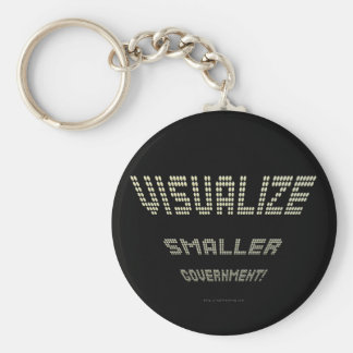 Visualize Smaller Government! Basic Round Button Key Ring