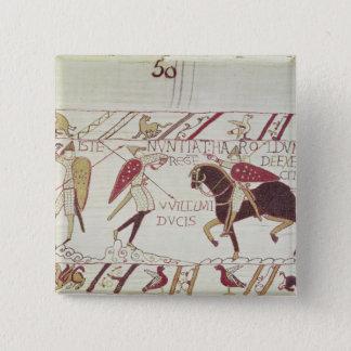 Vital informs King Harold 15 Cm Square Badge