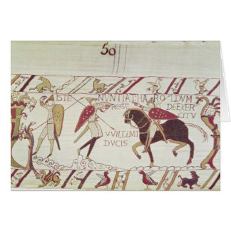 Vital informs King Harold Greeting Card