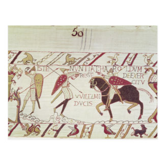 Vital informs King Harold Postcard