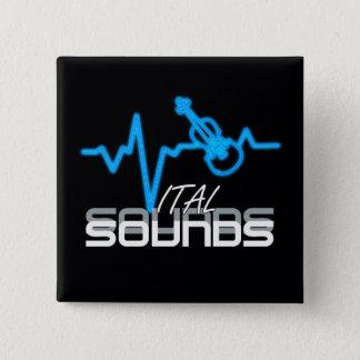 Vital Sounds Violin ID282 15 Cm Square Badge