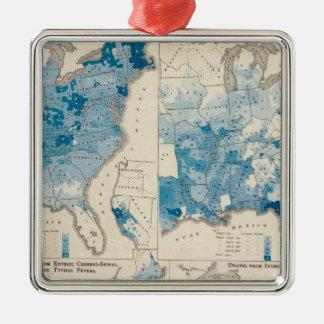 Vital statistics, United Census Silver-Colored Square Decoration