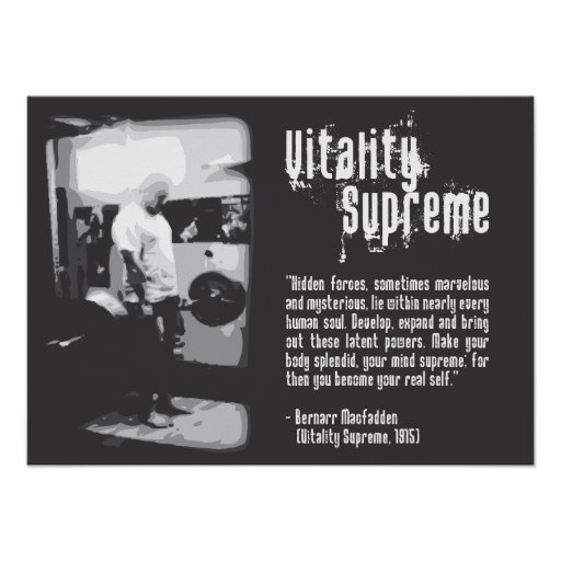 Vitality Supreme - Gym Poster