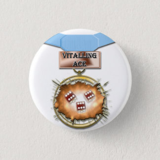 Vitalling Ace medal button