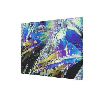 Vitamin C, Citric Acid, Crystals Viewed in Polariz Canvas Print