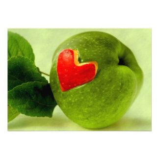 Vitamins with heart invitation