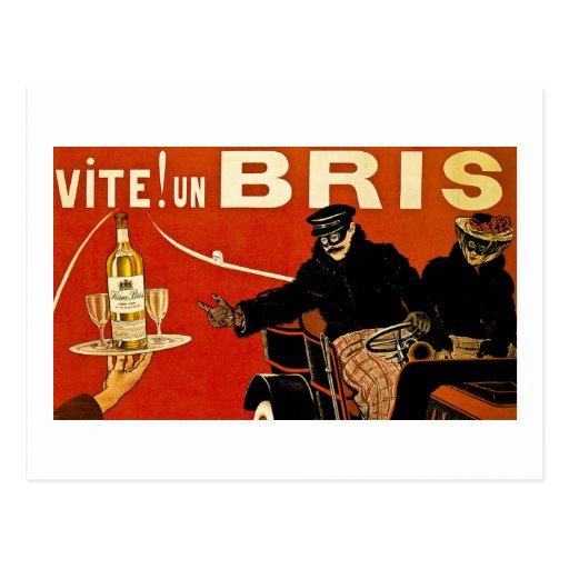Vite! Un Brie - Vintage French Advert Postcards