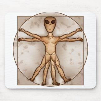 Vitruvian Alien Mouse Pad