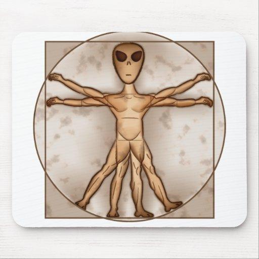 Vitruvian Alien Mouse Mat