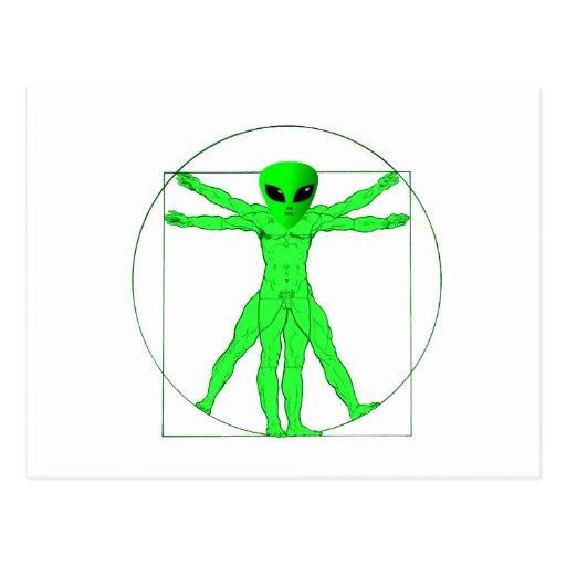 Vitruvian Alien Post Cards