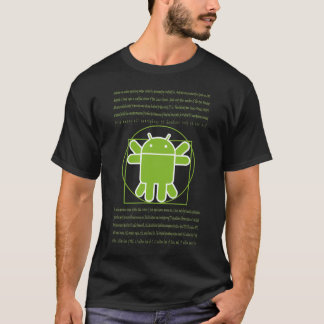 Vitruvian Man Android T-Shirt