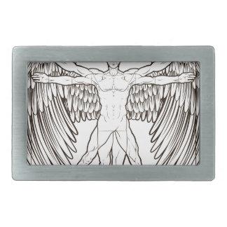 Vitruvian Man Angel Belt Buckles