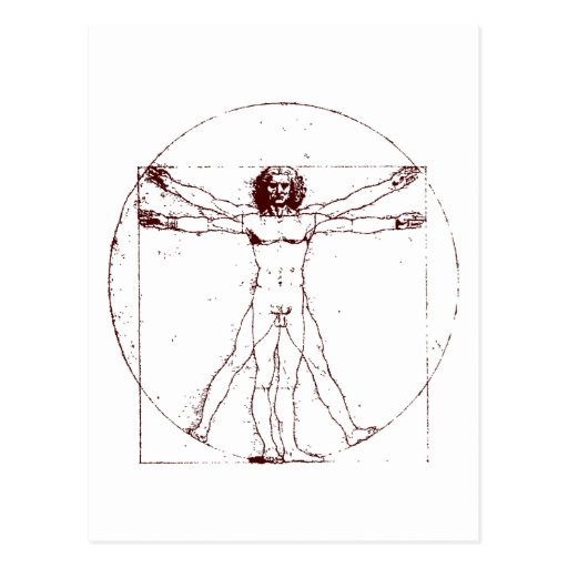 Vitruvian Man BRK Post Card