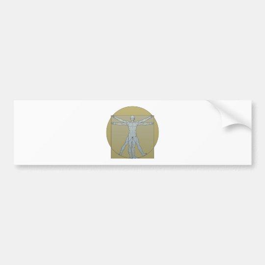 Vitruvian man bumper sticker