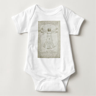 Vitruvian Man by Leonardo da Vinci Baby Bodysuit