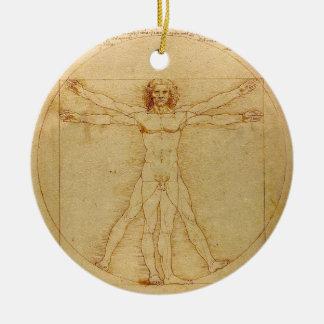 Vitruvian Man by Leonardo da Vinci Christmas Ornament