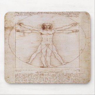 Vitruvian Man by Leonardo da Vinci Mouse Pads