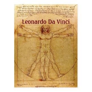 Vitruvian Man By Leonardo Da Vinci Postcard