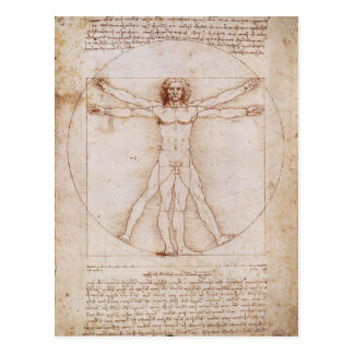Vitruvian Man by Leonardo da Vinci Post Cards