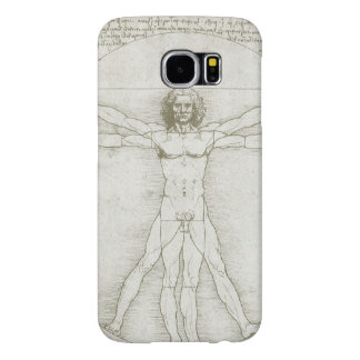 Vitruvian Man by Leonardo da Vinci Samsung Galaxy S6 Cases