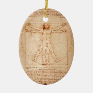 Vitruvian Man Ceramic Oval Decoration