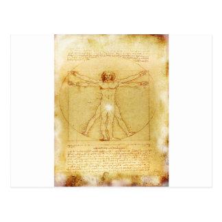 Vitruvian Man- Da vinci's Postcard