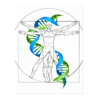Vitruvian Man DNA Postcard