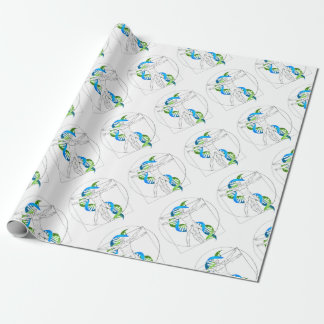Vitruvian Man DNA Wrapping Paper