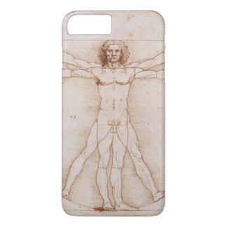 Vitruvian Man in detail by Leonardo da Vinci iPhone 7 Plus Case