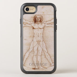 Vitruvian Man in detail by Leonardo da Vinci OtterBox Symmetry iPhone 8/7 Case