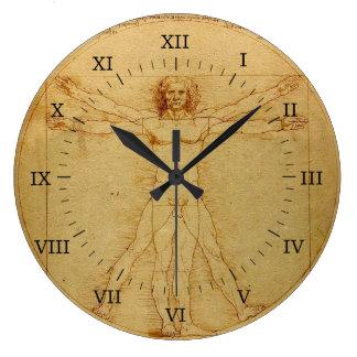 Vitruvian Man Large Clock
