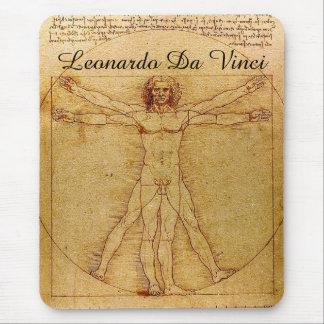 Vitruvian Man-Leonardo Da Vinci Mouse Pad