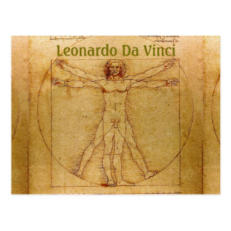 Vitruvian Man-Leonardo Da Vinci Postcard