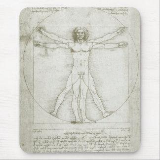 Vitruvian Man Leonardo da Vinci, Renaissance Art Mousepad