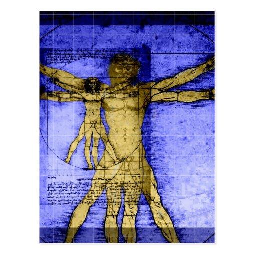 Vitruvian Man Post Card