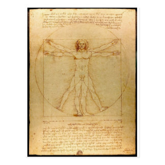 Vitruvian man. post cards