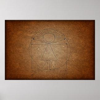 Vitruvian Man Print