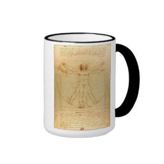 Vitruvian Man Ringer Mug
