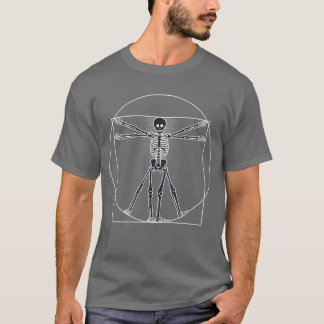 Vitruvian Man Skeleton Dark T-Shirt