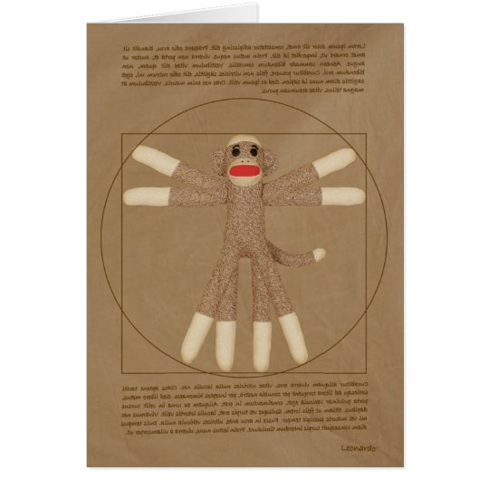 Vitruvian Monkey greeting card