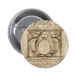 Vitruvian Penguin 6 Cm Round Badge